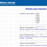 INSS – EXTRATO DE IMPOSTO DE RENDA