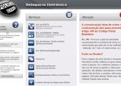 Delegacia Virtual PR, Boletim de Ocorrência, Telefone
