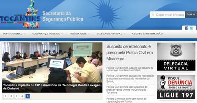 Delegacia Virtual TO, Boletim de Ocorrência, Telefone